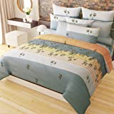 Home Candy 152 TC 3-D Double Bedsheet with 2 Pillow Covers - Floral, Multicolour