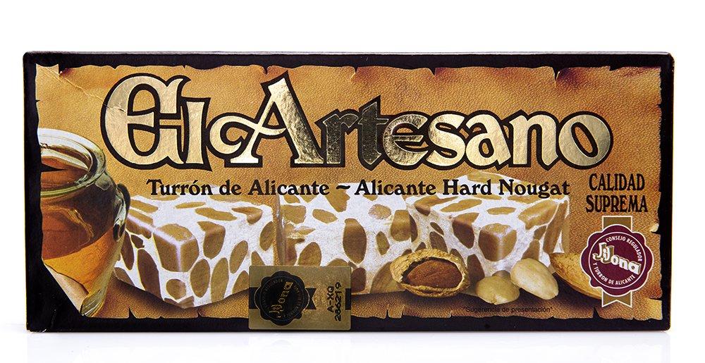 El Artesano Crunchy Almond Alicante Turron (Turron de Alicante Duro) 7 Oz (200 G) (Pack of 1) by El Artesano