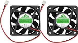 Security-01 2-Pack 60mm by 60mm by 15mm 6015 12V DC 0.10A Ball Bearing Brushless Cooling Fan 2pin AV-F6015MB UL TUV
