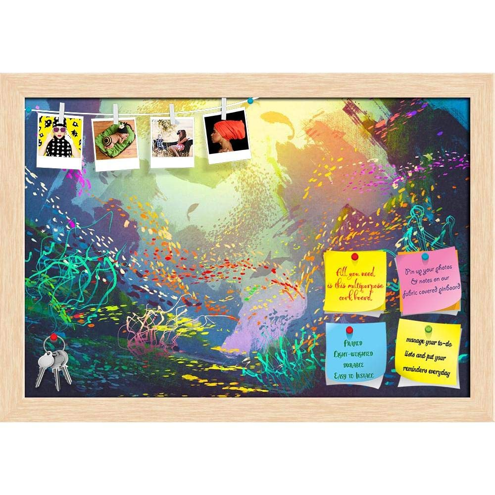 Artzfolio Underwater with Coral Reef & Colorful Fish Printed
