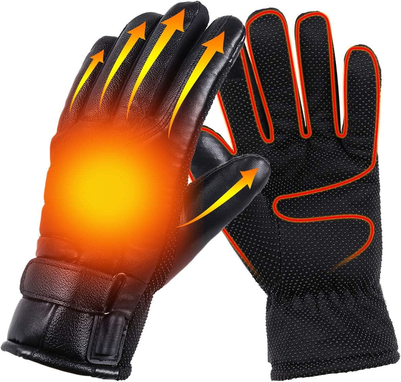 Heated Gloves Heated Gloves Usb Unisex Cycling Gloves Winter Ski Gloves Women Mtb Gloves Men Windproof And Waterproof Touchscreen Gloves Ski Bike Motorcycle Warm Gloves