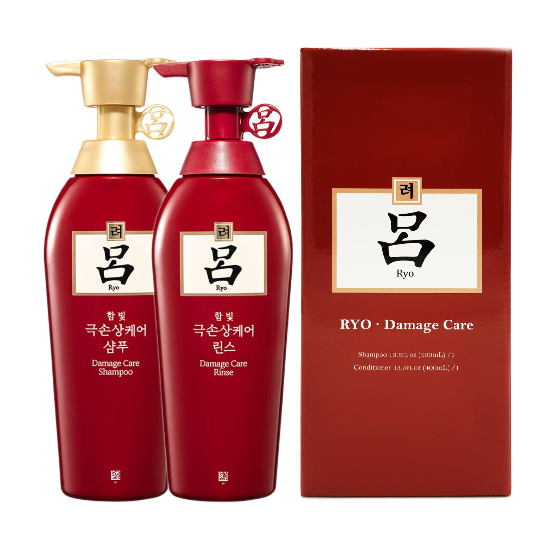 Ryoe Korean Herbal Anti Hairloss Damaged Hair Shampoo Conditioner Each 400ml