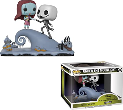 Funko Pop Movie Moment Nightmare Before Christmas Jack And Sally On The Hill Collectible Figure Multicolor