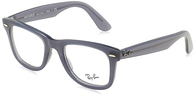 c2e5043a15b Amazon.com  Ray-Ban Unisex RX4340V Wayfarer Eyeglasses Blue 50mm ...