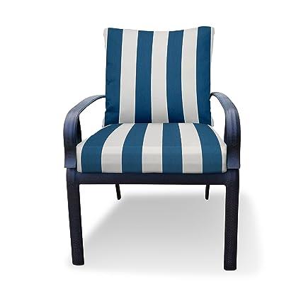 Amazon Com Thomas Collection Outdoor Cushions Blue White Patio