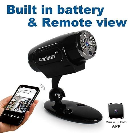 conbrov WF91 seguridad espía 720p cámara de vídeo oculta inalámbrica IP de vigilancia para interiores con