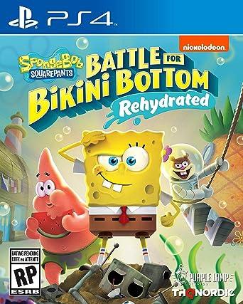 Amazon.com: Spongebob Squarepants: Battle for Bikini Bottom - Rehydrated -  PlayStation 4 Standard Edition: Thq Nordic, Nordic Games: Video Games