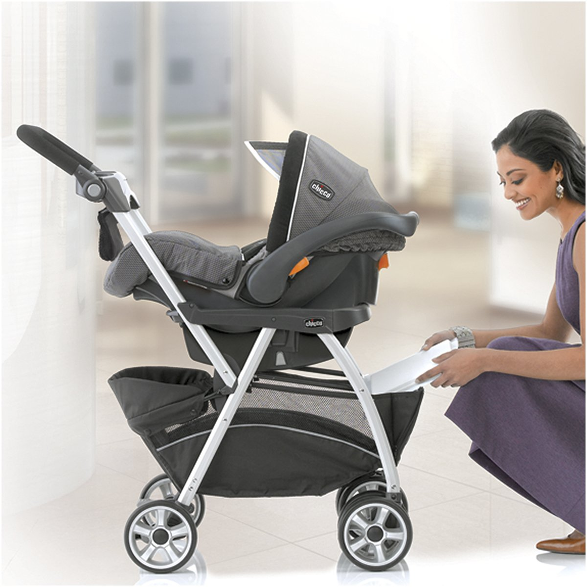 Amazon Chicco KeyFit And Fit2 Car Seat Compatible Caddy Baby Stroller Frame Black Strollers