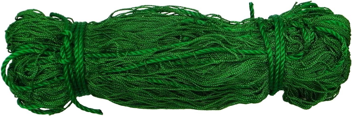 まつうら工業 多目的PPグリーンネット 28mm角目 約5.4×7.2m(周囲ロープ、4隅取り付けロープ付)