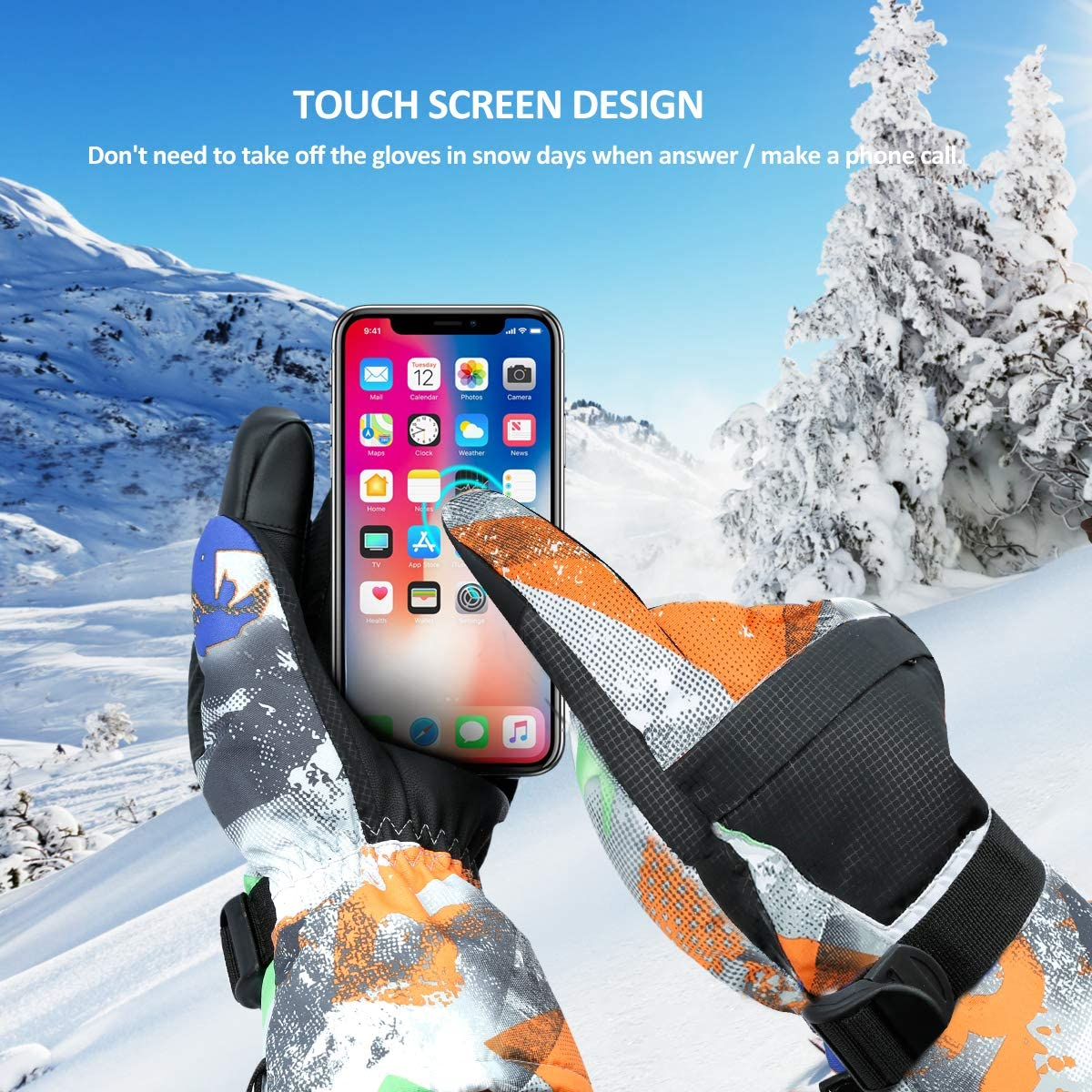 Shoveling Snowboarding Fits Both Mens /& Womens Motorcycle Winter Ski /& Snowboard Gloves Waterproof Touchscreen /& Breathable Snow Gloves for Skiing Racing