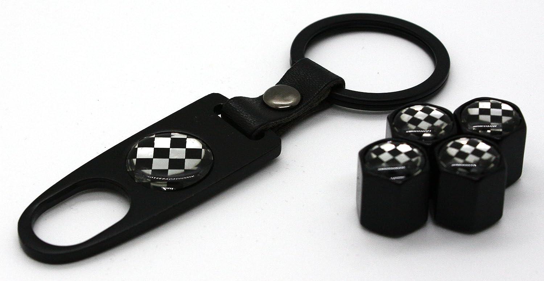 Mini Cooper llavero con 4/tapas de v/álvula de neum/ático Stem Set Accesorios para partes