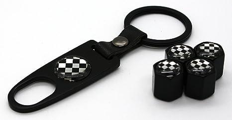 Amazon.com: Mini Cooper llavero con 4 tapas de vástago de ...