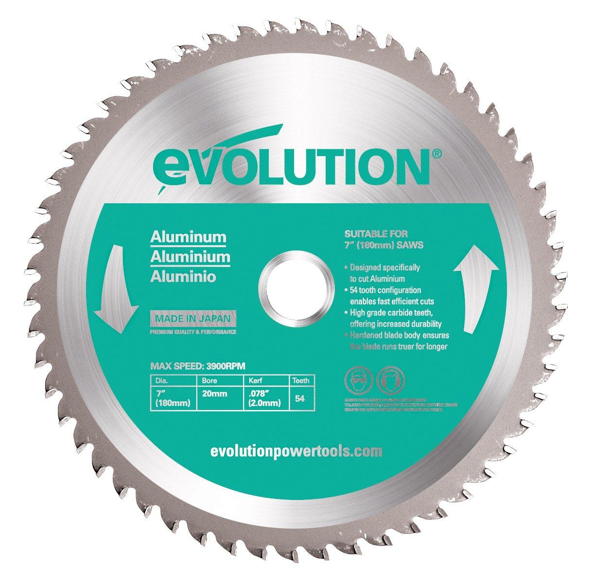 Evolution Power Tools –  acero evoblade255 acero dulce carburo, hoja, 255 mm –  Multi 255mm-Multi Evolution Power Tools (Steel) - Industrial Metal Fabrication HTC255STEEL