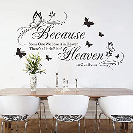 Welcome Wall Sticker Butterfly Stickers Lettering Patterns Home Decoration CF