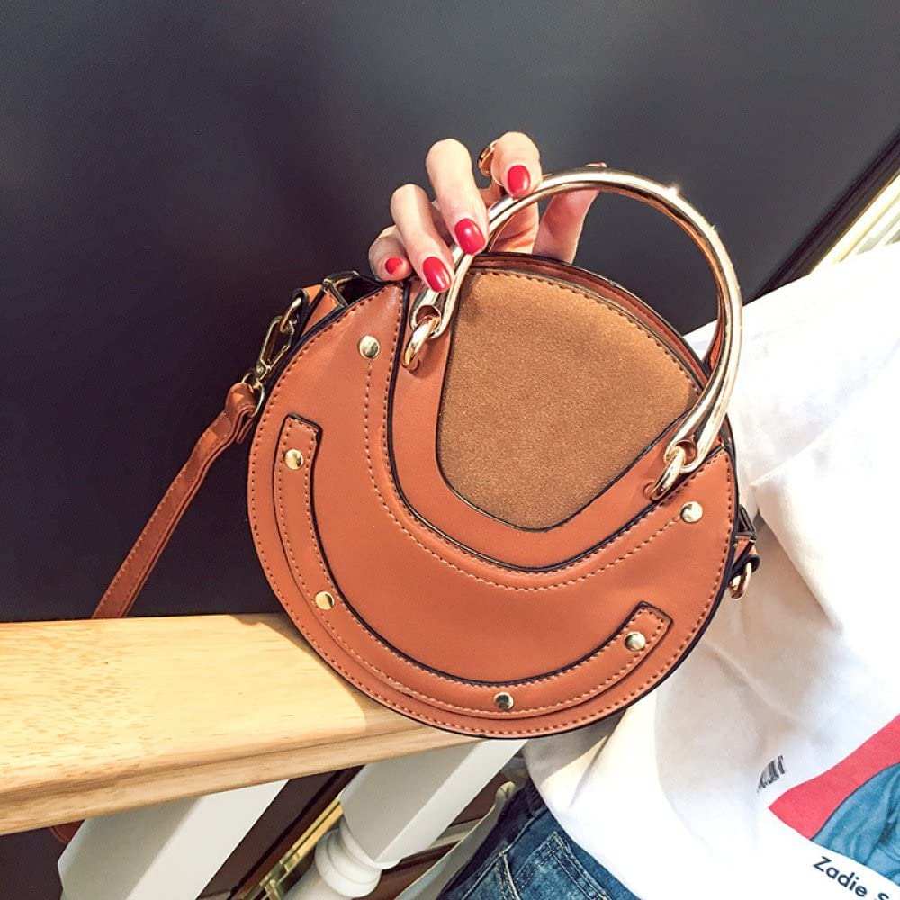 PU Lady Bag Retro Mini Round Bag Round Tote Bag
