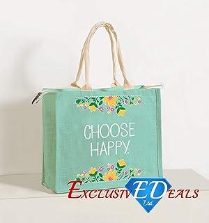 3b737b69b85 Jute Shopping Bag Hessian Large Eco Reusable Gift Tote Lunch Handbag - 34cm  (H)