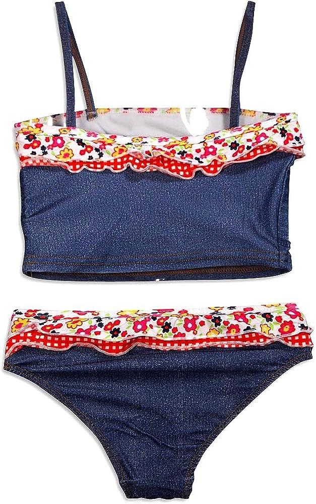 Little Girls Swimsuit Paris Blues