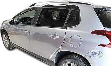 J J Automotive Windabweiser Regenabweiser Für Peugeot 2008 5 Türer Ab 2013 2tlg Heko Dunkel Auto