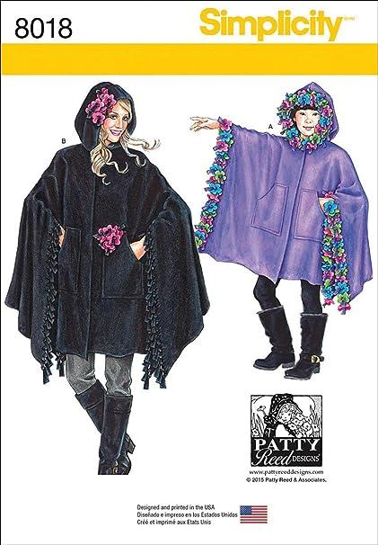 84cb60b97 Amazon.com: Simplicity Patterns Child's, Girls Misses' Fleece ...