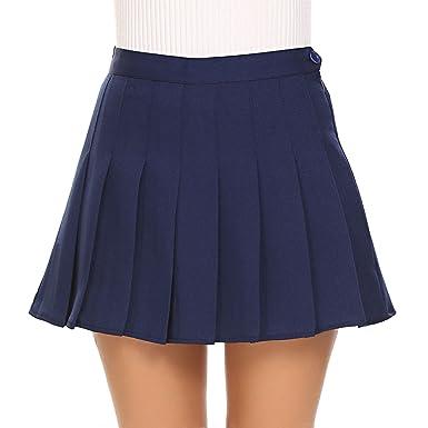 442373ece9899e Amazon.com: Shine Japanese Women Tennis Pleated Mini Skirt School Girl  Skater Skirt Shorts: Clothing