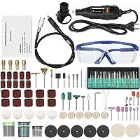 KKmoon Avanzato Utensile Multifunzione Oscillante Smerigliatrice Elettrica180W Mini Portatile Taglio lucidatura Levigatrice Accessori Kit per Lucidare, Levigare, Fresare, Trapanare, Incidere 220V