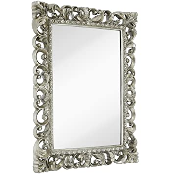 Amazoncom Hamilton Hills Antique Silver Ornate Baroque Frame