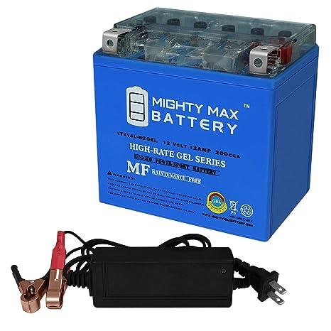 Amazon.com: Mighty Max Batería YTX14L-BS Gel sustituye a ...