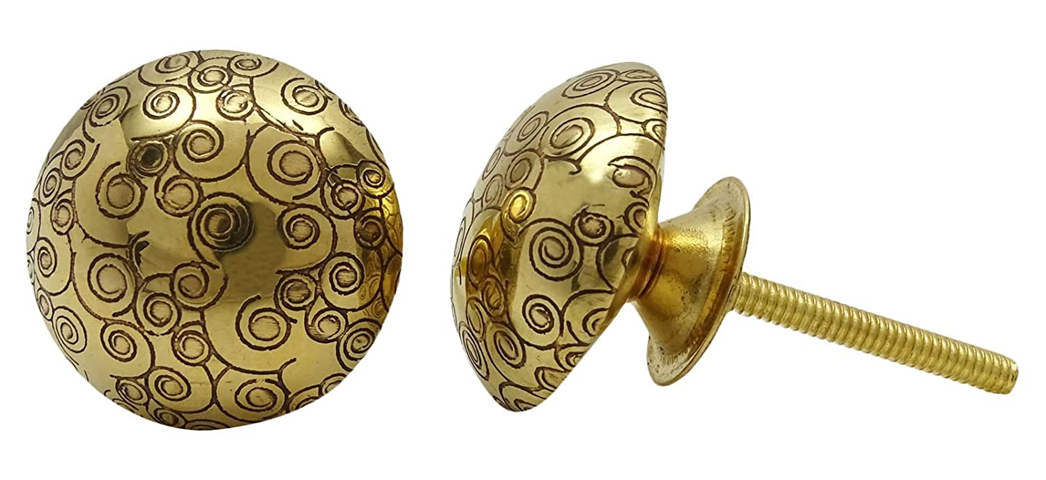 Decorative unique kitchen cabinet door knobs brass drawer pull knobs 1 pair delicate