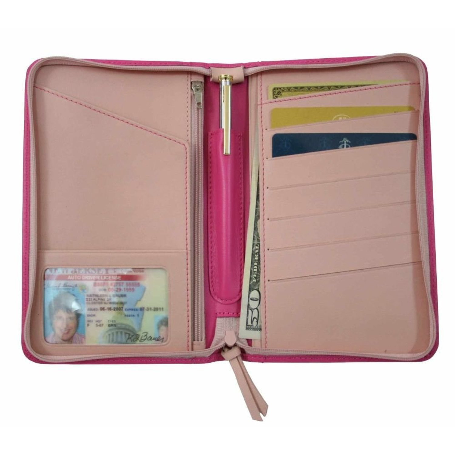 Royce Leather Two Toned Passport Travel Wallet 225-TAN-5