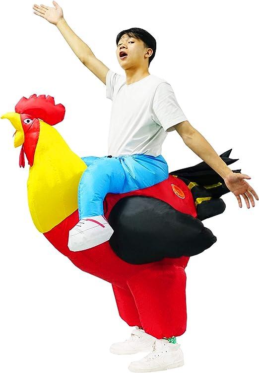 PARAYOYO Disfraz de Gallo Inflable Traje de Gallo Adulto Vestido ...