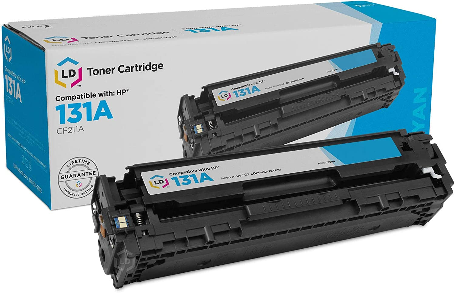 LD Remanufactured Toner Cartridge Replacement for HP 131A CF211A (Cyan)