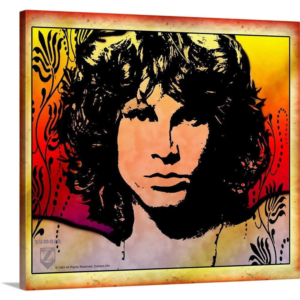 Gallery-Wrapped Canvas Entitled Jim Morrison Light My Fire 3 Great Big Canvas 24''x21''