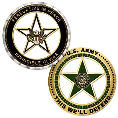U.S. Army Star Challenge Coin: Toys & Games