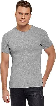 oodji Ultra Hombre Camiseta Básica (Pack de 2): Amazon.es: Ropa y ...