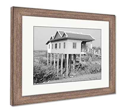 Amazon.com: Ashley Framed Prints Typical Homes On Stilts, Wall Art ...