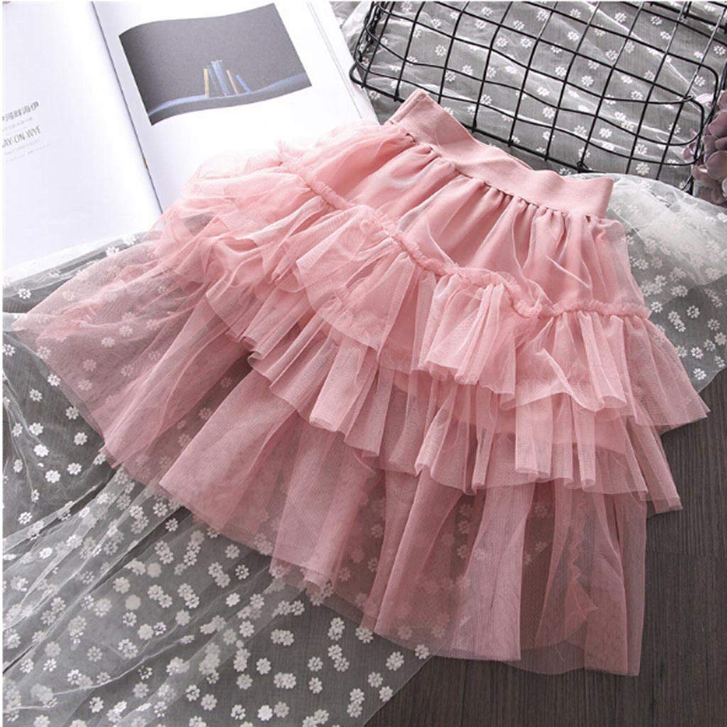 NUWFOR Toddler Kids Baby Girl Outfits Clothes Letter Print T-Shirt Tops+Tulle Skirt Set(Pink,2-3 Years) by NUWFOR (Image #6)
