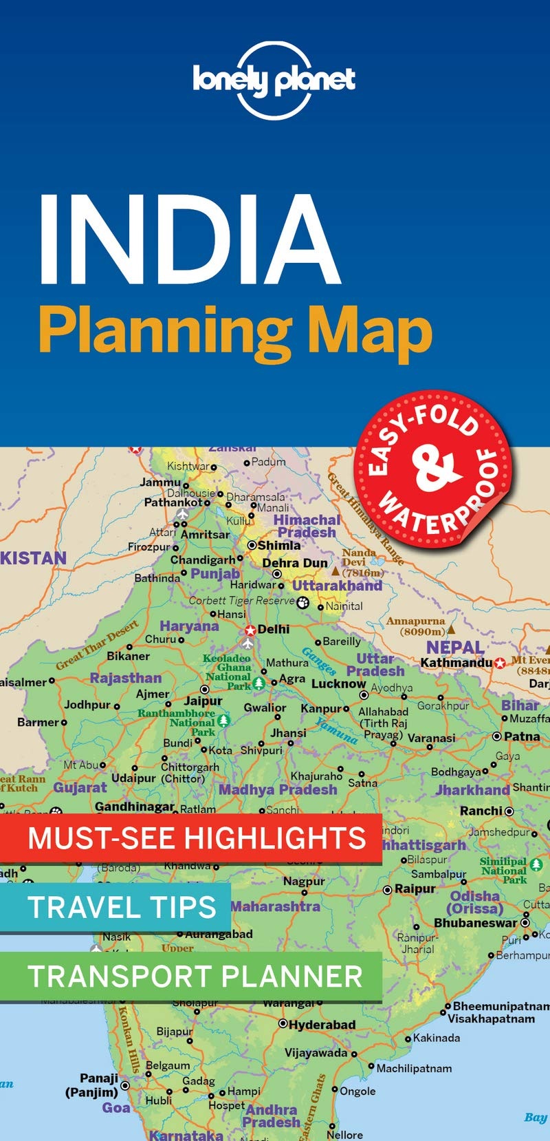 Hampi India Map.Lonely Planet India Planning Map Lonely Planet 9781787014572