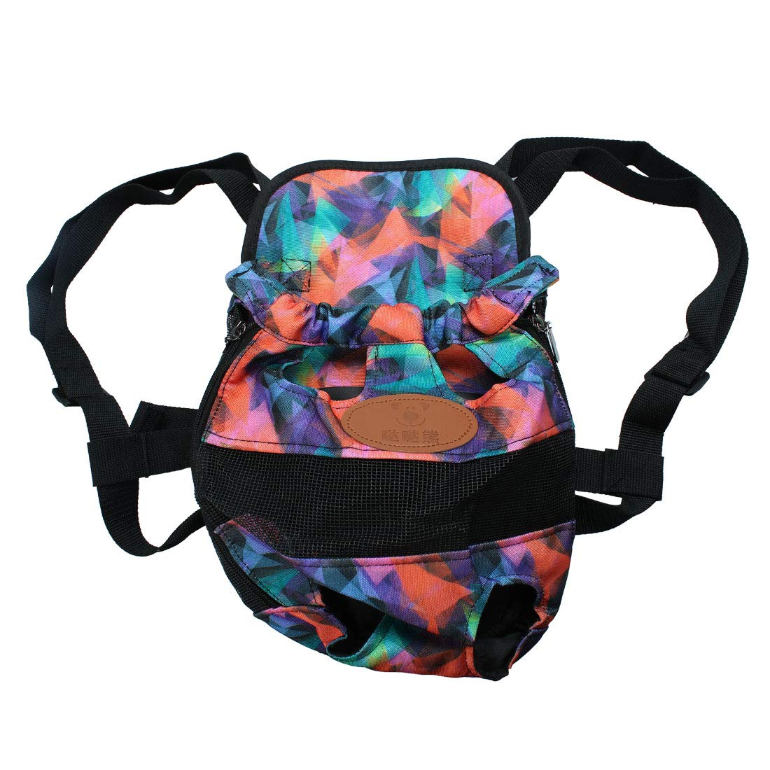 colorful Pattern S colorful Pattern S uxcell® Pet Dog Carrier Adjustable Front Chest Backpack Pet Cat Puppy Tote Holder Bag Straps for Travel Outdoor S Size colorful Pattern
