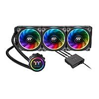 Thermaltake Floe Dual Ring RGB 240 TT Premium Edition PWM TR4 LGA2066 Ready AIO Liquid Cooling System CPU Coole 360mm