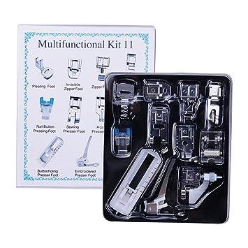 Milkee 11 Prensatelas para Prensar Diferentes Tipos de Telas en las Máquinas de Coser: Amazon.es: Hogar