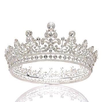 Prinzessin Schmuck GroßEn Kreis Strass KöNigin Festzug Krone Hochzeit Braut A1C1