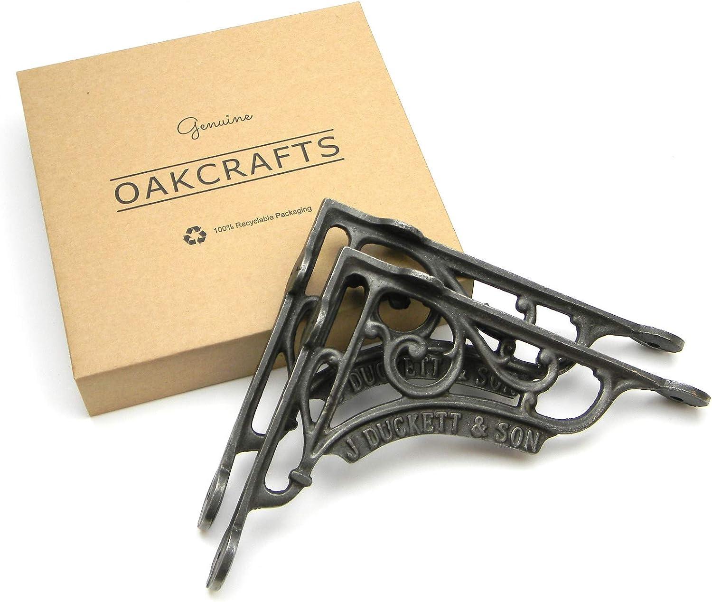 Par de soportes para estante de hierro fundido J Duckett /& Son de 200 mm x 180 mm