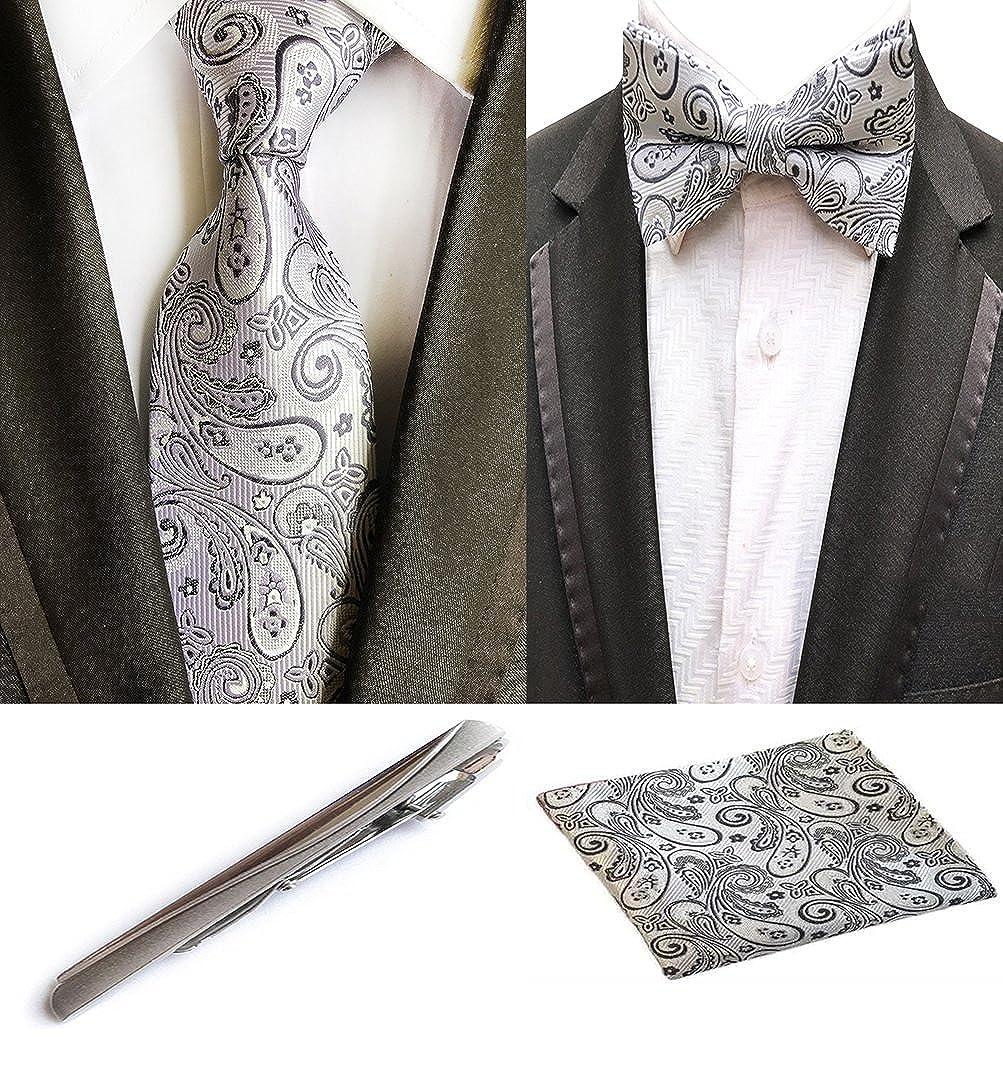 clearance MOHSLEE Men Formal Paisley Suit Necktie Bow Tie Metal ...
