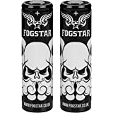 2 x Fogstar 18650 3.7V 3500mAh 10/20A Premium Vaping Battery - Flat Top - Independently Tested