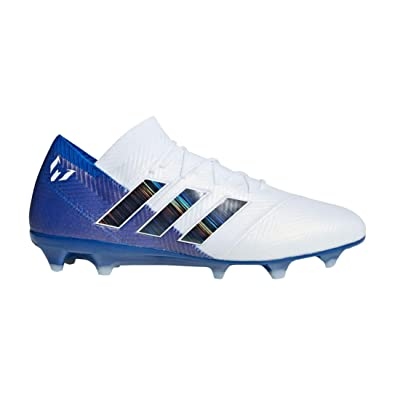 512afd3df0dc adidas Nemeziz Messi 18.1 Firm Ground Soccer Cleats (7) White/Black/Blue