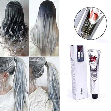 Argent Cheveux Gris Crème Unisexe Gris Fumé Style Punk Gris Clair