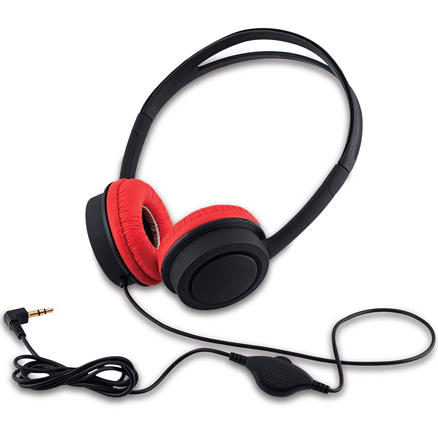 iBall Kydz Star Kids Safe Wired Headphone with in line Volume Controller-Black and Red