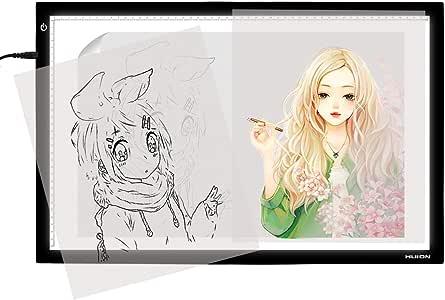 Huion A2 Caja de luz LED Tablero de del panel de acrílico para Animadores: Amazon.es: Hogar