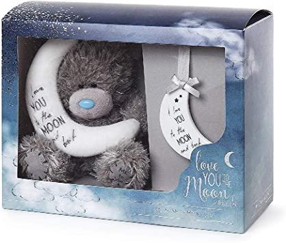 Me To You Free Shipping! Tatty Teddy Moon And Back Bear /& Plaque Set