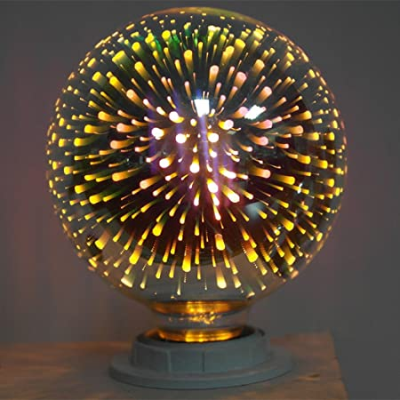 Amazon.com: FUNOC Multicolor LED Light Bulb - A60 ST64 G80 G125 Fireworks Ball Light for Home Holiday Decorative 3D Edison Party Lamp: Home & Kitchen
